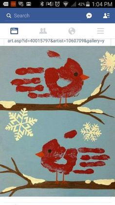 Winter Handprint art activity Winter Handprint art activity,Basteln Winter Handprint art activity Related posts:Paper Plate Star Twirler - Red Ted Art - Preschool craftsBlue Blossom - Diy thing 1 and thing 2 costumesCream. Preschool Christmas, Christmas Activities, Kids Christmas, Hand Print Christmas Cards, Baby Christmas Crafts, Grandparents Christmas Gifts, Daycare Crafts, Baby Crafts, Holiday Crafts
