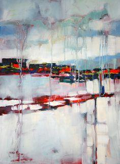"Saatchi Online Artist: Marta Zawadzka; Acrylic 2013 Painting ""Winter in Warsaw III - canvas"""