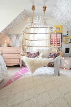 Teen Girl Bedrooms - Delightful and charming teen room decor examples. Fancy for additional super teen room decor designs simply press the pin to wade through the post example 2558209009 today Teenage Girl Bedroom Designs, Teen Girl Bedrooms, Attic Bedroom Ideas For Teens, Preteen Bedroom, Ideas For Bedrooms, Teenage Girl Rooms, Girls Bedroom Ideas Teenagers, Cool Bedroom Ideas, Kids Girls