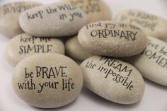MESSAGE STONES Motivational Stones Affirmation by PETITmiracles
