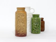 Large Beige SCHEURICH keramik vase, decor Jura, West Germany vase, German Pottery, Mid Century Modern Home Decor by EllaOsix on Etsy