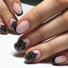 41 New French Manicure Designs To Modernize The Classic Mani French Manicure Nail Designs, New French Manicure, Glitter French Manicure, Fingernail Designs, Lace Nails, White Nail Designs, French Tip Nails, Gel Manicure, Manicures
