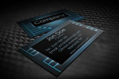 Modern electronic business card templates, suitable for any kind of business related to electronics. This template is available for free download as Adobe Photoshop (PSD) file.