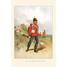 'Queen's Royal Surrey' by Walter Richards Painting Print Size: H x W by margarett Painting Frames, Painting Prints, Watercolor Paintings, Art Print, British Army, Nature Scenes, World Cultures, Surrey, Red Green