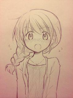 (2) Twitter Cute Easy Drawings, Dark Art Drawings, Anime Drawings Sketches, Art Drawings Sketches Simple, Anime Sketch, Kawaii Drawings, Manga Drawing Tutorials, Anime Character Drawing, Cute Art