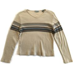 90s Grunge Striped Cropped Top ($32) ❤ liked on Polyvore featuring tops, sweaters, brown crop top, cut-out crop tops, stripe crop top, grunge tops and crop top