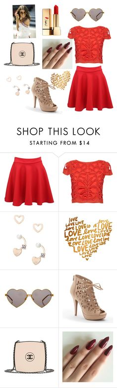 """""""Valentine's Day """" by luvstruckdevil on Polyvore featuring Pilot, Alice + Olivia, Lipsy, Wildfox, Apt. 9, Chanel and Yves Saint Laurent"""