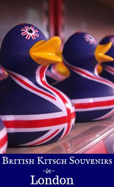 When souvenir shopping in London, England go all out for British kitsch (travel souvenirs and global shopping).