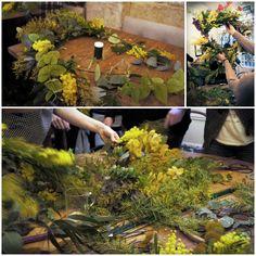 ©1000lieux-PauleHautefort-2015  13 a baker's dozen, Flower's cake, couronnes de fleurs, les Herbes de Paris, Oh josephine, fleuriste, décoration florale, workshop, atelier, atelier floral, salon de thé, restauration midi