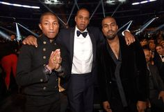 Pin for Later: Tous les Moments des Grammy Awards Qui N'ont Pas Été Retransmis à la Télé Pharrell, Jay Z, et Kanye West