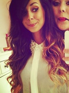 Zoella and louise in the back lol (: