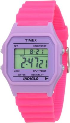 Women's Wrist Watches - Timex Womens T2N2679J Fashion Digitals Premium Lavendar Watch * Learn more by visiting the image link.