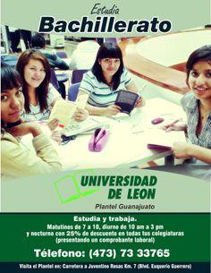 Bachillerato, Universidad de León