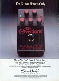 Dean Markley Guitar Foot Pedal Promo Ad - Van Halen - Eric Clapton - Paper Ephemera - Guitar Promo Ad - Vintage…