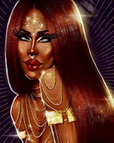 "1,699 Gostos, 196 Comentários - Pierre (@nina_bonina_brown) no Instagram: ""@leoshki thank u for my very first professional caricature look I love it!! #queen #art #dragqueen…"""