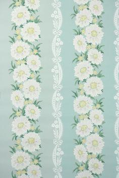 pretty daisy vintage wallpaper