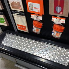 Diamond Plate Gift Card Display