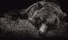 Bear in acrylic by Christina Penescu