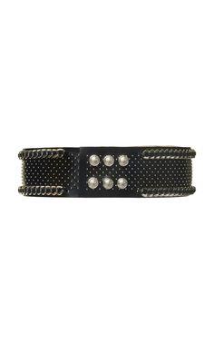 Embellished Leather Belt - Black Balmain YTG2X