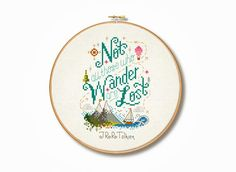 Tolkien 'Not all those who wander' Cross Stitch by Stitchrovia