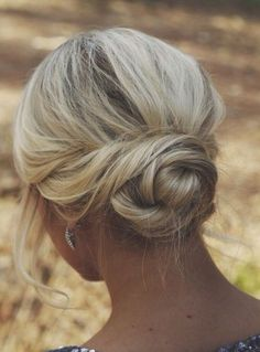 A beautiful braided bun hair updo that is simple and elegant.