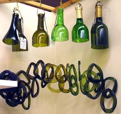 wine bottle glass wind chimes