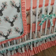 The bedding I finally decided on for the nursery!!