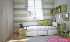 je kamer ruimer laten lijken? Lichte kleuren zoals limegroen zijn hier prima geschikt voor!