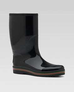 Rubber Boot by Gucci at Bergdorf Goodman.  for those rainy days!!