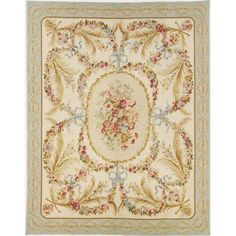 The Vieux Carre Aubusson Rub has the look and feel of a masterpiece that is hand woven with wool yarn on a loom with a cotton foundation to achieve the strength and ageless beauty of the original French Aubusson weave. Wall Carpet, Rugs On Carpet, Aubusson Rugs, French Country Bedrooms, Carpet Design, Rug Making, Carpet Runner, Home Art, Rugs
