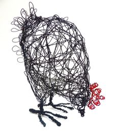Would you like to make your own wire Hen sculpture? This step by step instruction booklet with over 20 photos takes you through the method I use to make my wire sculptures. There is also an A4 template for you to work from. I have been teaching this straightforward technique in