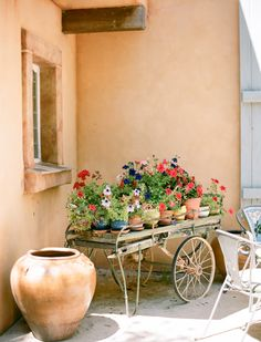 Southern California Professional Photographer Fine Art Wedding Photography Flower Cart Pots Potted