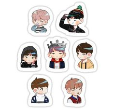 Bts Spring Day stickers featuring millions of original designs created by independent artists. Bts Chibi, Printable Stickers, Cute Stickers, Bts Kawaii, Kpop Drawings, Tumblr Stickers, Bts Merch, Aesthetic Stickers, Kpop Fanart