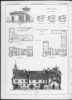 Виллы, дачи и загородные дома / Чертежи архитектурных памятников, сооружений и объектов - наглядная история архитектуры и стилей