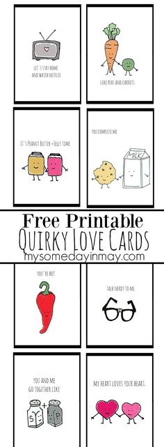 Free Printable Anniversary Cards Gift Ideas Pinterest Free