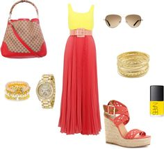 """Confy long summer dress"" by cchavarria on Polyvore"
