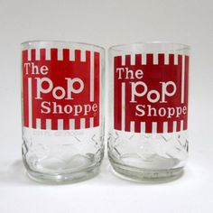 Recycled Pop Shoppe Bottle Juice Glasses.