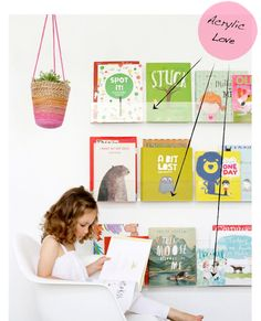 As a children's book illustrator, I love that these clear bookshelves make children's books the art masterpieces of the wall in children's rooms! They look like they are framed and hanging on the wall.