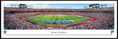 Miami Dolphins Panoramic - Sun Life Stadium Picture Framed