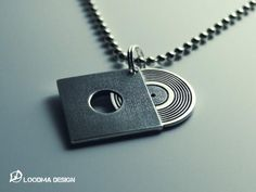 Record Necklace - Silver (925)