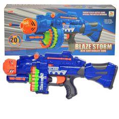 Eléctrico de juguete pistola de juguete nerf pistolas 20 unids suave bala arma grande lanzadores cs al aire libre juguetes para niños de cumpleaños regalo