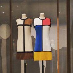 Mondrian inspired dresses at the Barbican's new exhibition. #dress #fashion #mondrian #thevulgar #barbicancentre #gallery #exhibition