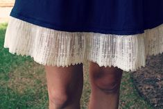 A genius way to lengthen a too-short skirt