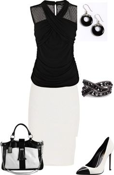 """""""Classy Black and white"""" by jennaldevito on Polyvore"""