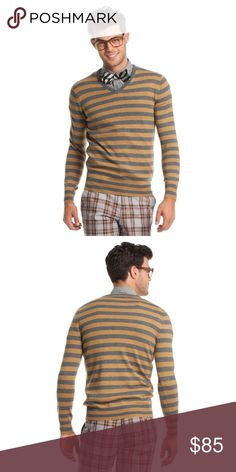 Mr. Turk cotton striped sweater Mr. Turk cotton striped sweater | Never worn | great condition | Size Small Trina Turk Sweaters V-Neck