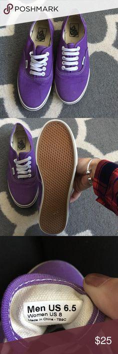 Purple Vans Authentic Purple Vans, size 8, only worn a handful of times Vans Shoes Sneakers