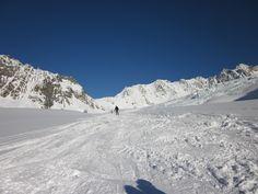Skifahren im Pitztal / Tirol / Österreich