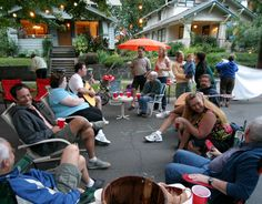 Summer Block Party planning ideas. Wake up your neighbours. For people of all ages. Pot Luck is a definite.