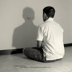 Most Amusing Shadow Photography Taken at Perfect Time and Angle - bemethis Shadow Photography, Creative Portrait Photography, Surrealism Photography, Conceptual Photography, Dark Photography, Photography Poses, Photography Challenge, Photography Projects, Emotional Photography