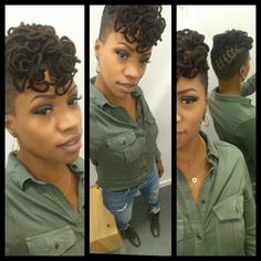 Curly Locs with tapered side